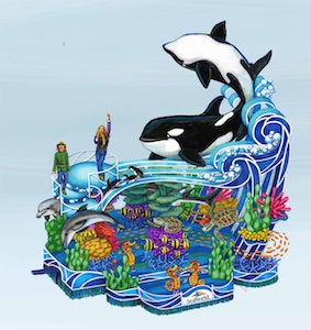 "SeaWorld's ""A Sea of Surprises"" float"