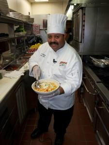 Chef Jesus Castañeda with Penne ala Vodka