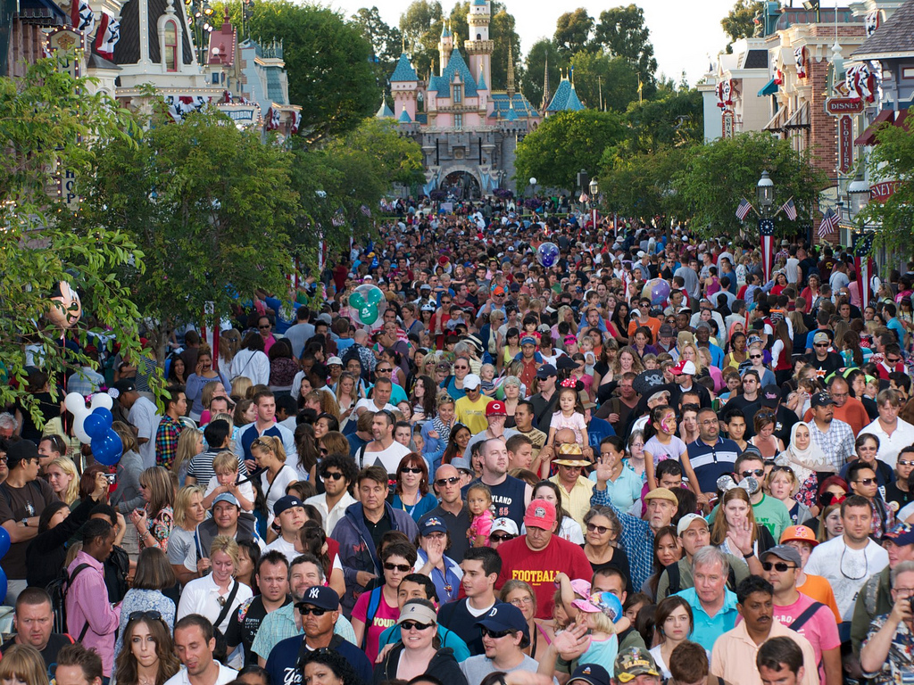 Disneyland Crowds | Party Invitations Ideas