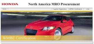 Business   Procurement American Honda Motor Co. Inc.