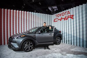 Actor Wilmer Valderrama with 2018 Toyota C-HR