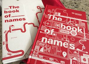 The Book of Names a Very Special Toyota Project
