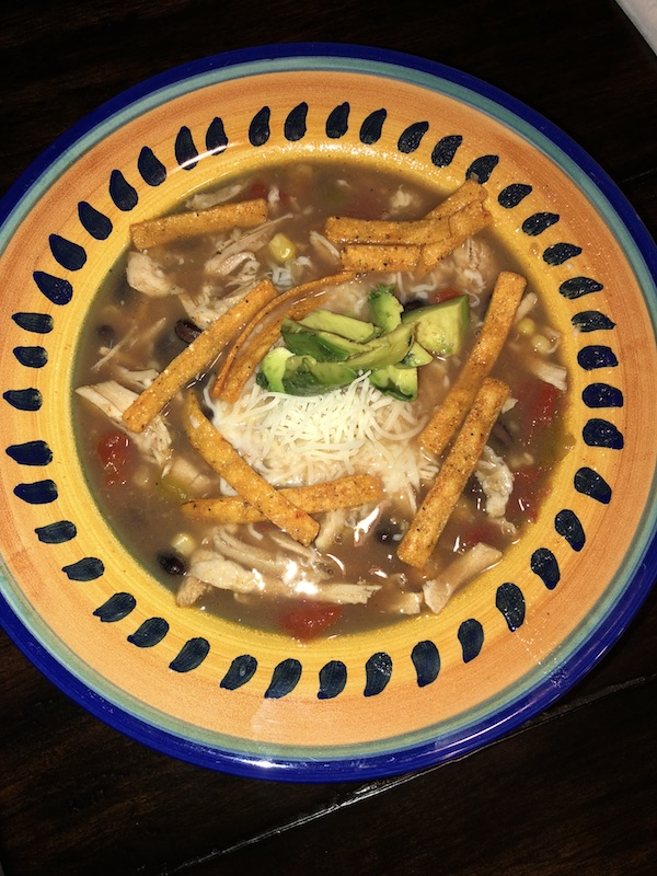 On the Menu | The BEST Chicken Tortilla Soup