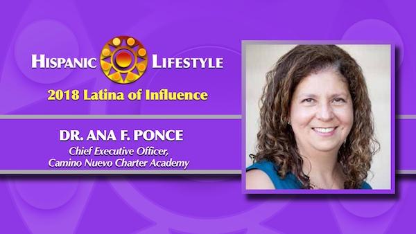 2018 Latina of Influence | Dr. Ana F. Ponce