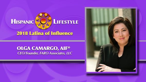 2018 Latina of Influence | Olga Camargo, AIF®