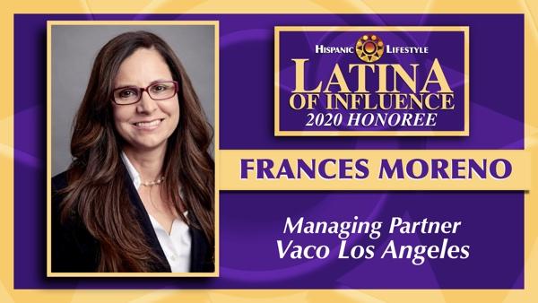 2020 Latina of Influence | FrancesMoreno